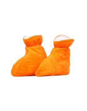 Orange tofflor - för paraffinvax
