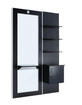 Spegel med hylla svart
